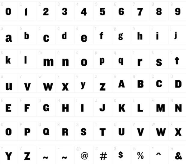Knockout Font View