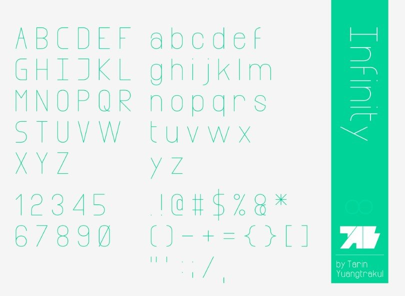 Infinity Font View