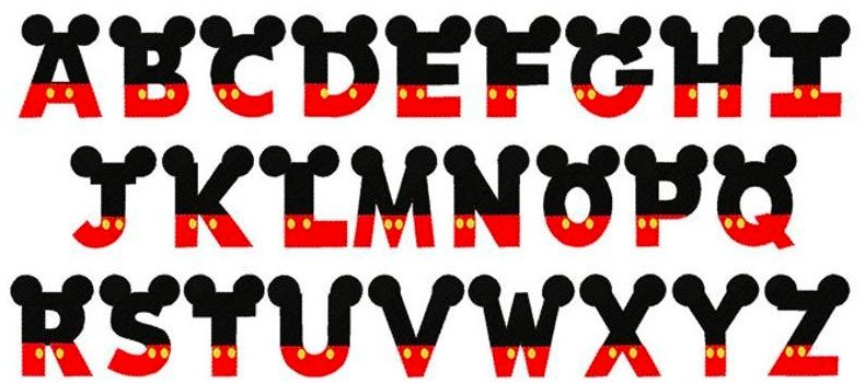 Mickey Ear Font View