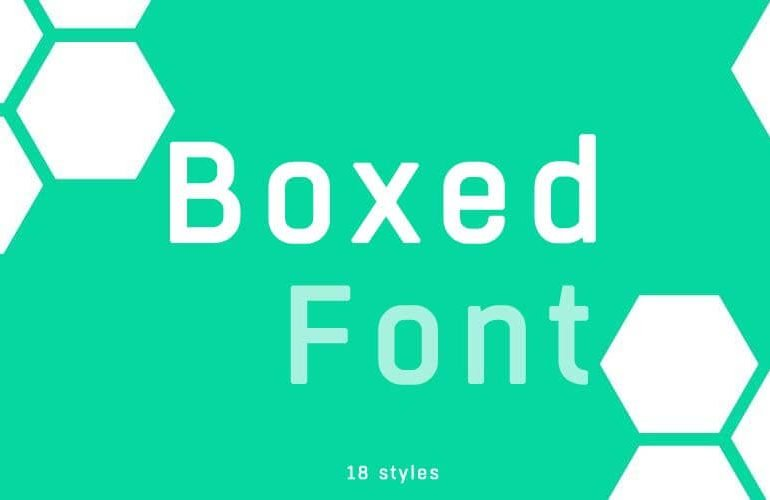 Boxed font