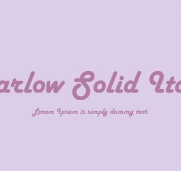 Harlow Solid Font